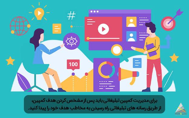 مدیریت کمپین بازاریابی - نظارت کمپین های تبلیغاتی - مجموعه تبلیغاتی مثلث