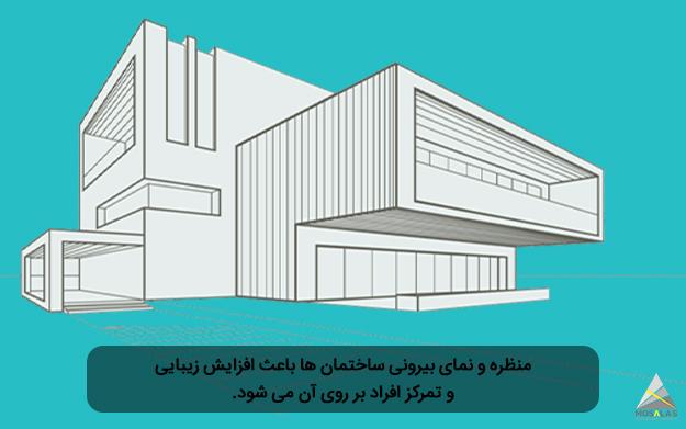 منظره و نمای بیرونی معماری در ساختمان